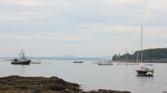 Fishing boats Maine harbor _11 Stock Footage