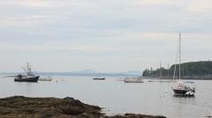 Fishing boats Maine harbor _11 Stock Footage