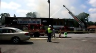 Stock Video Footage of Hardware store fire