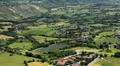 HD Aerial View of San Marino, Beautiful Landscape, Fields, Hills, Green Nature Footage