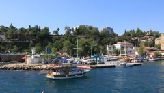 See port in Kaleici - old town in Antalya, Turkey Stock Footage
