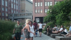 High Line park New york #1 Stock Footage