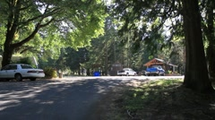 Campground entrance, ranger Stock Footage