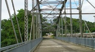 Stock Video Footage of Steel Truss Bridge converted into a Passive Park v2