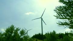Wind energy olive garden Stock Footage