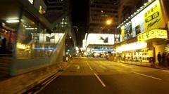 HONG KONG NIGHT DRIVING 4 - stock footage