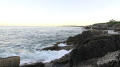Maine coast rocky beach 09 Stock Footage