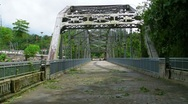 Stock Video Footage of Steel Truss Bridge Passive Park V3