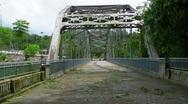 Stock Video Footage of Steel Truss Bridge Passive Park V3