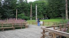 Totem poles Stock Footage