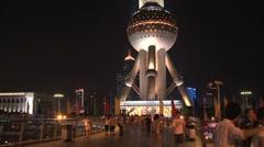 Oriental Pearl Tower Stock Footage