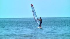Wind surfing 03 Stock Footage
