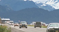 Stock Video Footage of Homer Spit Road Traffic 4