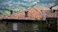 HD Aerial View of San Marino, Beautiful Landscape, Old House Roof and Horns Footage