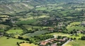 HD Aerial View of San Marino, Beautiful Landscape, Fields, Hills, Green Nature HD Footage