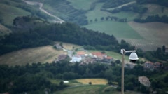 HD Security Surveillance Camera CCD Aerial View of San Marino, Landscape - stock footage