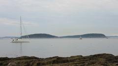 Sail Boat North East Coast Maine _05 Stock Footage