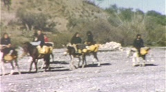 Spanish Peasant Women Ride Burros Donkeys 1950s Vintage Film Home Movie 278 - stock footage