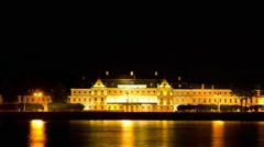 ZOOM: Menshikov Palace at night, St. Petersburg, Russia (TIME-LAPSE) Stock Footage