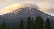 Mt Shasta Time Lapse Stock Footage