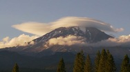 Time Lapse of Clouds Over Mt Shasta Stock Footage