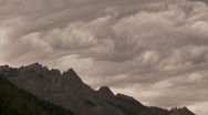 Stock Video Footage of Castle Crags State Park Stormy Time Lapse
