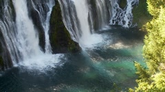Burney Falls Pool Stock Footage