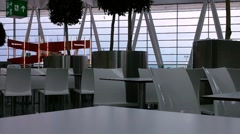Quiet Airport Terminal 01 Stock Footage