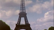 EIFFEL TOWER GARDENS Paris France 1950s Vintage 8mm Film Home Movie 281 Stock Footage
