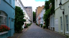 Backstreet in England 02 - stock footage