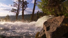 Morning Light on Eagle Falls, Lake Tahoe Stock Footage