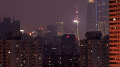Downtown Shanghai Stock Footage