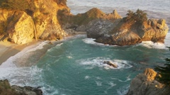 McWay Falls Big Sur Coast - stock footage
