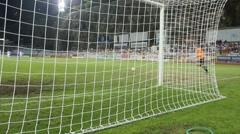 Goalkeeper fired a ball Stock Footage