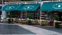 French Cafe in London Stock Footage