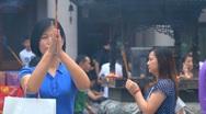 People praying Stock Footage