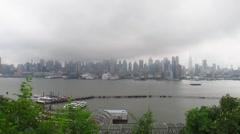 New York City as Hurricane Irene Arrives Stock Video - stock footage