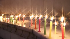 religious candlelit ceremony - stock footage