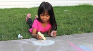 Stock Video Footage of Fun With Sidewalk Chalk