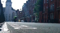 London Street 14 lowangle Stock Footage