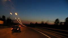 driving the city at night - stock footage