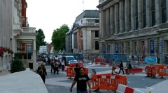 London Street Under Construction 03 Stock Footage
