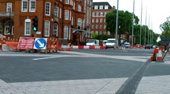 London Street Under Construction 04 Stock Footage