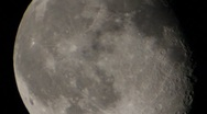 Motion big moon in the space Stock Footage