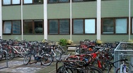 Parked Bikes Stock Footage