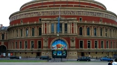 Royal Albert Hall London - stock footage