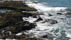 Sea - Wave, Spray and Rocks Stock Footage