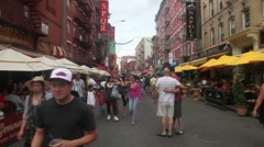 New York Little Italy #1 Stock Footage