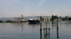 Boat in Evian France 02 Stock Footage