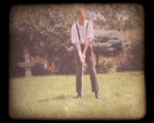 Old 8mm Golf Home Movie Stock Footage